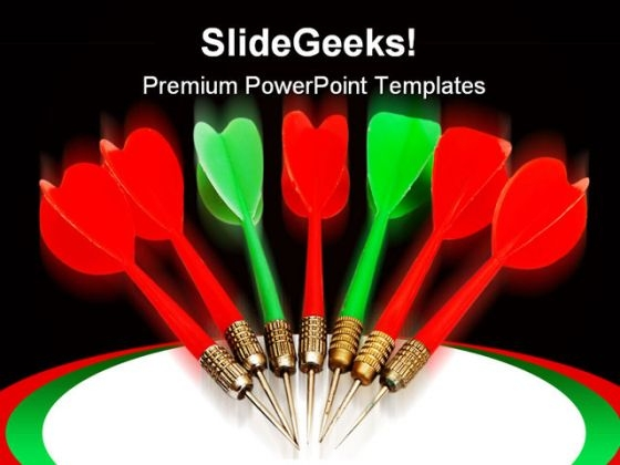 Dart Arrows Business PowerPoint Templates And PowerPoint Backgrounds 0611