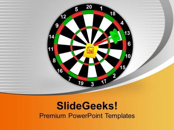 Dart Hit The Target House Achievement Business PowerPoint Templates Ppt Backgrounds For Slides 0113