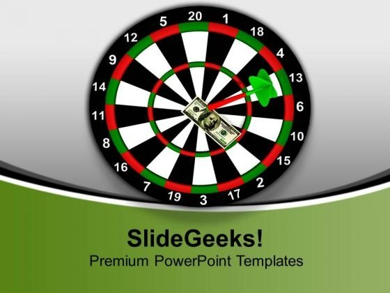 Dart Hitting Dollar As Target Competition PowerPoint Templates Ppt Backgrounds For Slides 1112
