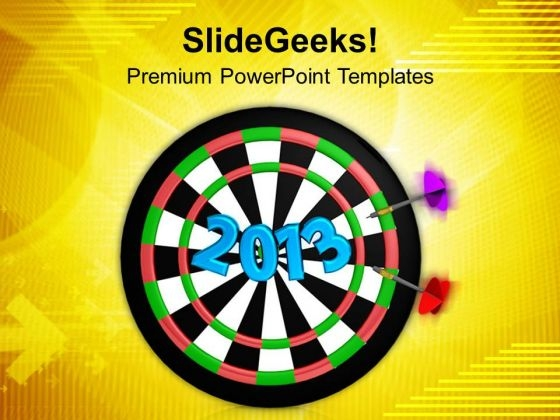 Dart Hitting Target New Concept PowerPoint Templates Ppt Backgrounds For Slides 0413