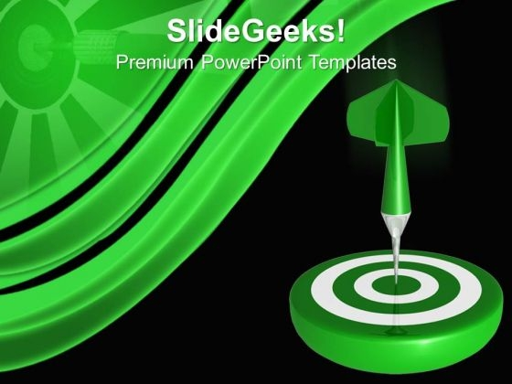Dart Hitting Targets PowerPoint Templates And PowerPoint Themes 0812