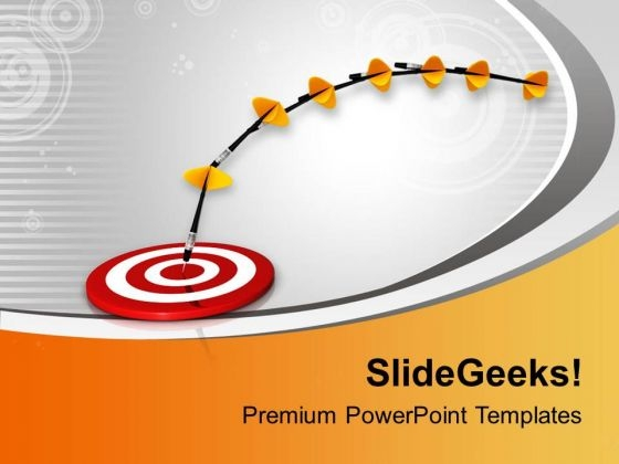 Dart Moves Towards The Target PowerPoint Templates Ppt Backgrounds For Slides 0713