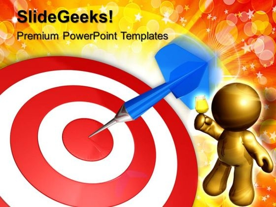 Dart On Target Business PowerPoint Templates And PowerPoint Themes 0612