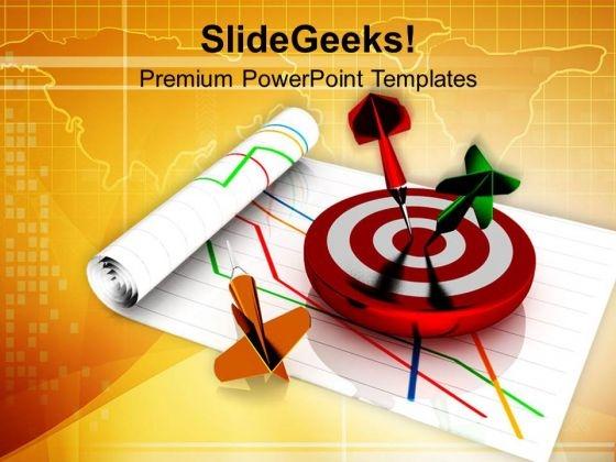 Dart Sticks On Target PowerPoint Templates Ppt Backgrounds For Slides 0713