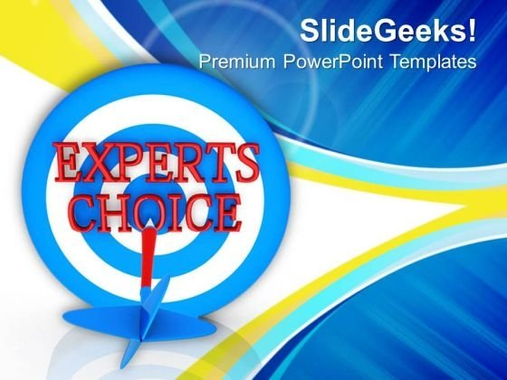 Dart Target Concept Of Selecting PowerPoint Templates Ppt Backgrounds For Slides 0413