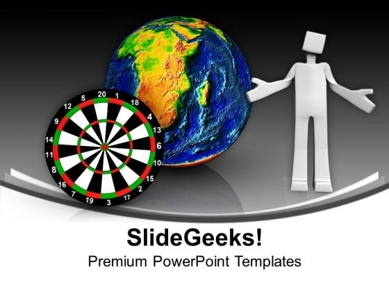 Dart With Globe Strategy Business PowerPoint Templates Ppt Background For Slides 1112