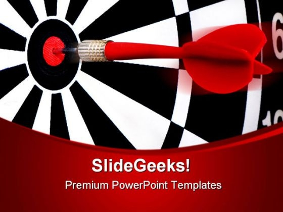 Dart With Target Business PowerPoint Templates And PowerPoint Backgrounds 0611