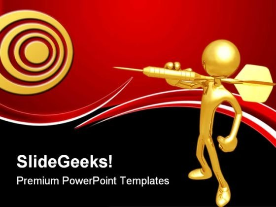 Darts Target Business PowerPoint Themes And PowerPoint Slides 0611