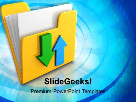 Data Transfer Business PowerPoint Templates And PowerPoint Themes 1112