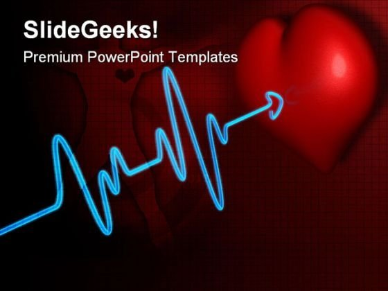 Deadline Heartbeat Medical PowerPoint Themes And PowerPoint Slides 0511