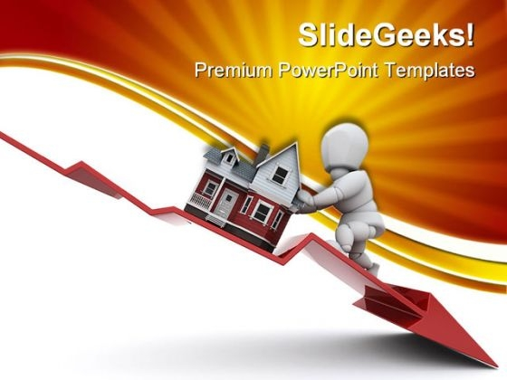 Declining Property Real Estate PowerPoint Templates And PowerPoint Backgrounds 0511