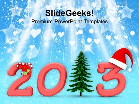 Decoarted Happy New Year 2013 PowerPoint Templates Ppt Backgrounds For Slides 1212