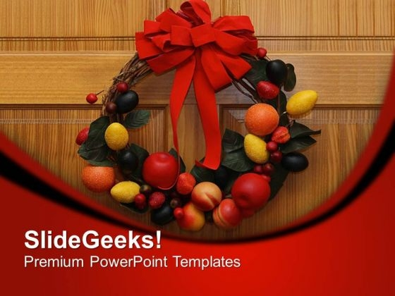 Decorate The Door For Festival PowerPoint Templates Ppt Backgrounds For Slides 0713