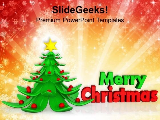 Decorative Christmas Tree Festival PowerPoint Templates Ppt Backgrounds For Slides 1112