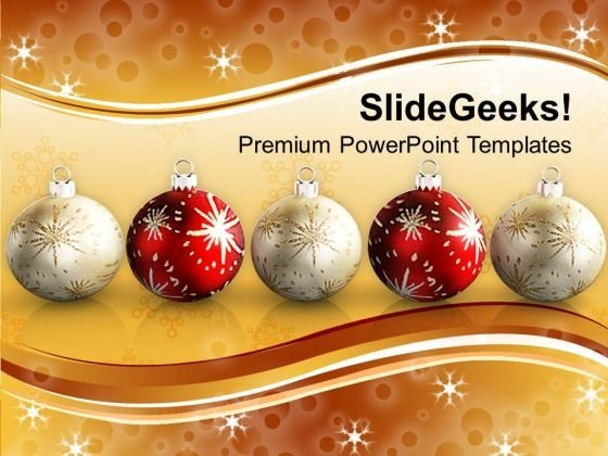 Decorative Filigree Christmas Holidays PowerPoint Templates Ppt Backgrounds For Slides 1112