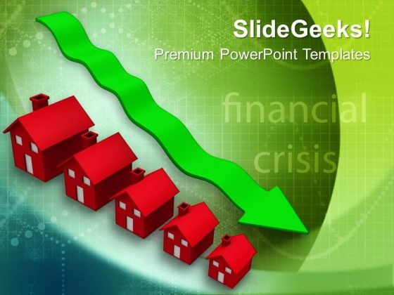 Decrease In Prices Of Houses Real Estate PowerPoint Templates Ppt Backgrounds For Slides 0113