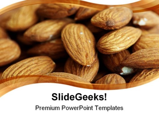Delicious Almonds Food PowerPoint Themes And PowerPoint Slides 0311