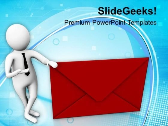 Deliver The Mail On Time PowerPoint Templates Ppt Backgrounds For Slides 0813