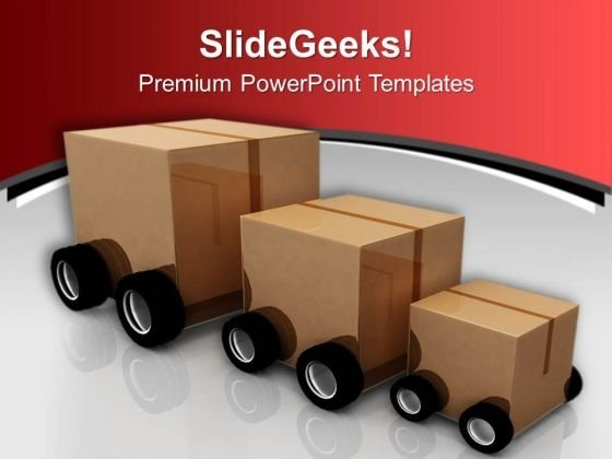 Deliver The Parcel Transportation PowerPoint Templates Ppt Backgrounds For Slides 0513