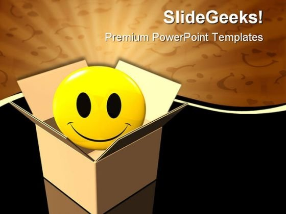 Delivering Happiness Business PowerPoint Themes And PowerPoint Slides 0611