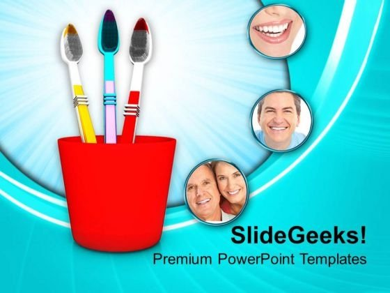 Dental Hygiene Related Items PowerPoint Templates Ppt Backgrounds For Slides 0213