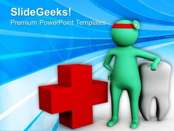 health services powerpoint template  Dentist Aids Oral Health Services PowerPoint Templates Ppt ...