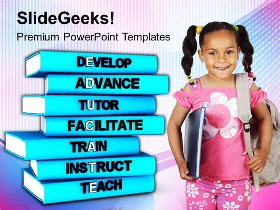 Develop Good Skills For Better Education PowerPoint Templates Ppt Backgrounds For Slides 0713