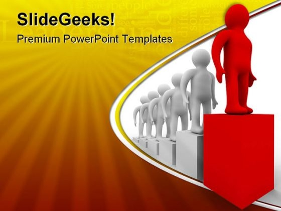 Diagram Of Growth Leadership PowerPoint Templates And PowerPoint Backgrounds 0411