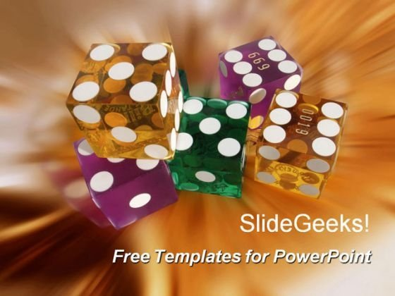 Colorful Dice PowerPoint Template