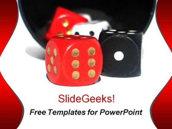 Red & Black Dice PowerPoint Template