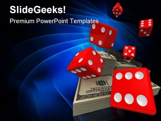 Dice And Money Business PowerPoint Themes And PowerPoint Slides 0211