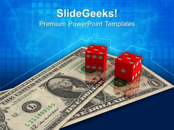 Dice Dollar Business Finance PowerPoint Templates And PowerPoint Themes 1012
