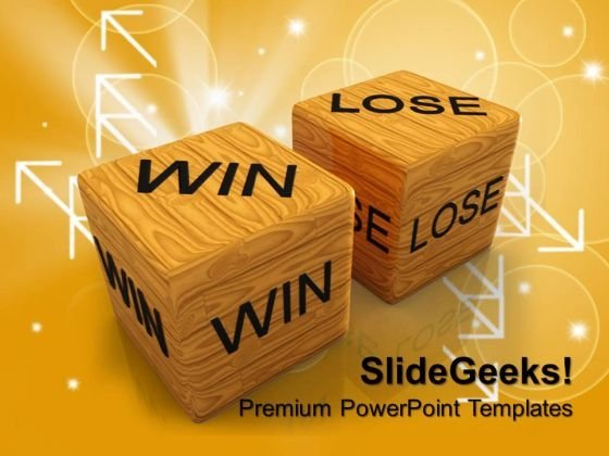 Dice Win Vs Lose Business PowerPoint Templates And PowerPoint Themes 0712