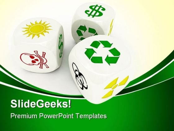 Dices Recycle Shapes PowerPoint Templates And PowerPoint Backgrounds 0411