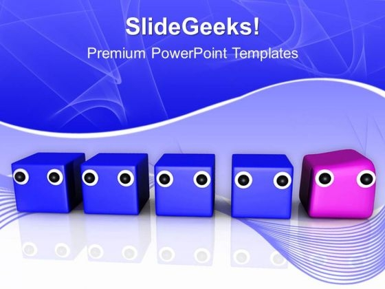 Difference Individuality Leader Unique PowerPoint Templates And PowerPoint Themes 1012