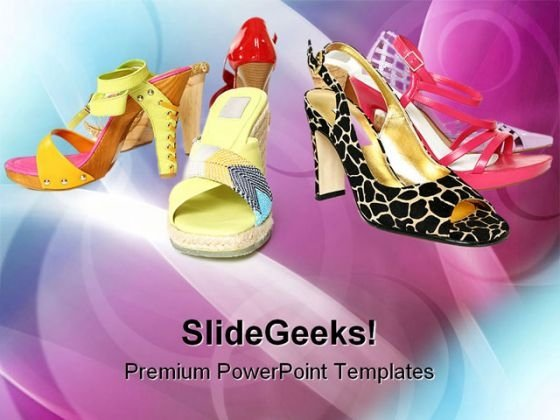 Different Footwear Fashion PowerPoint Templates And PowerPoint Backgrounds 0111
