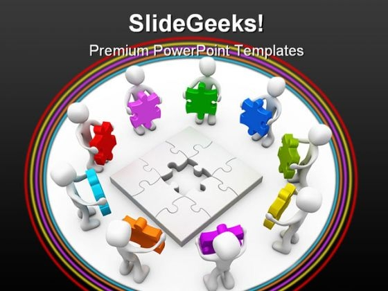 Different Options Puzzles Business PowerPoint Backgrounds And Templates 1210