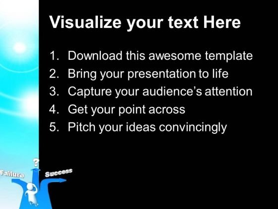 different_paths_to_success_or_failure_metaphor_powerpoint_templates_and_powerpoint_themes_0912_text