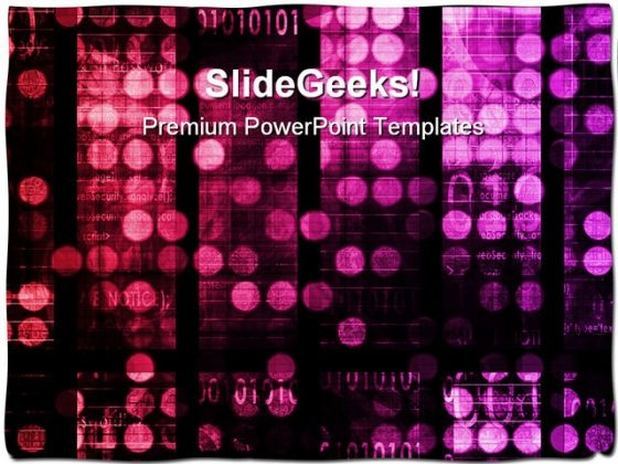 Digital Background Abstract PowerPoint Themes And PowerPoint Slides 0611