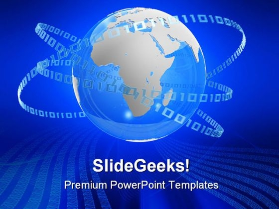 Digital Globe Binary Global PowerPoint Themes And PowerPoint Slides 0511