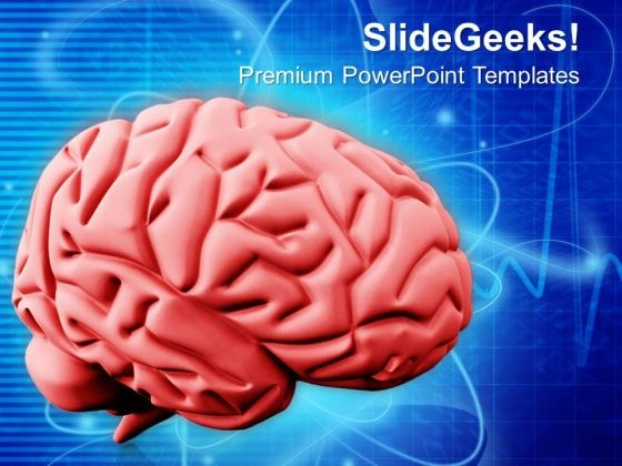 Digital Illustration Of Human Brain PowerPoint Templates Ppt Backgrounds For Slides 0713