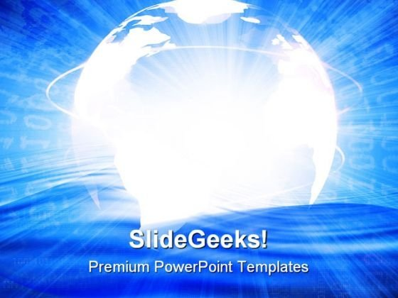 Digital World Global PowerPoint Templates And PowerPoint Backgrounds 0511