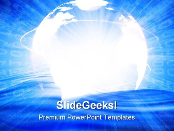 Digital World Global PowerPoint Themes And PowerPoint Slides 0511