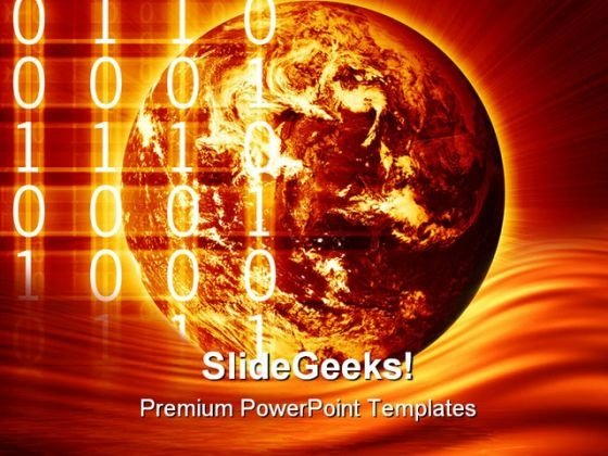 Digital World Globe PowerPoint Templates And PowerPoint Backgrounds 0411