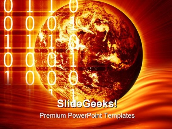 Digital World Globe PowerPoint Themes And PowerPoint Slides 0411
