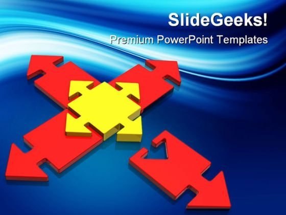 Direction Arrows Shapes PowerPoint Templates And PowerPoint Backgrounds 0311