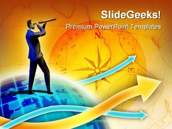 Direction Business Future PowerPoint Template 1110