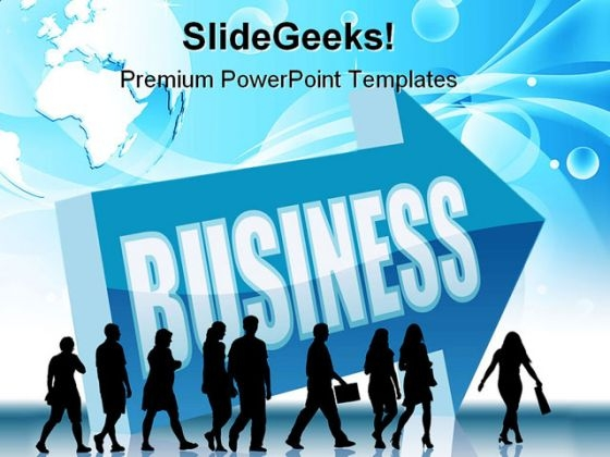 Direction Business People PowerPoint Themes And PowerPoint Slides 0611