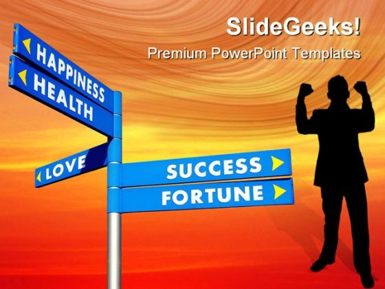Direction To Goals Success PowerPoint Templates And PowerPoint Backgrounds 0611