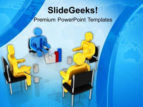 Discuss Bar Graph Of Results PowerPoint Templates Ppt Backgrounds For Slides 0713